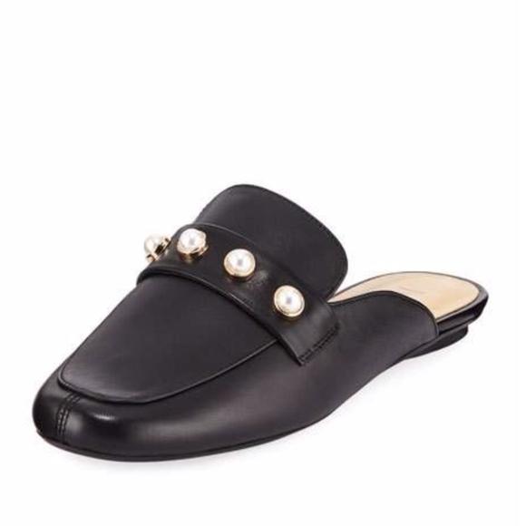 4eda3e37ee13 Neiman Marcus Shoes   Euc Black Leather Mule Loafer   Poshmark